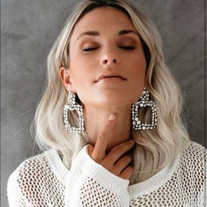 The Mostest Diamond Statement Earring - Vici